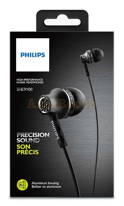 PHILIPS SHE9100 High Performance in-Ear Earphones Headphones - Box