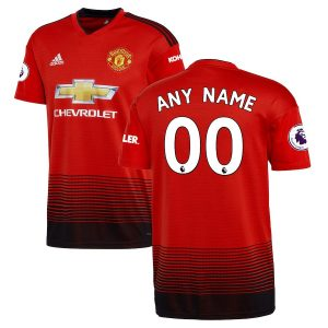 2018-2019 Manchester United Home Jersey Shirt Climacool For Men (Personalized Name & Number)