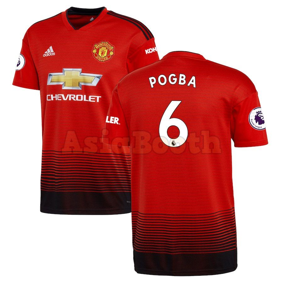 check out 878f7 16b21 2018-2019 Manchester United Home Jersey Shirt For Men (Pogba)