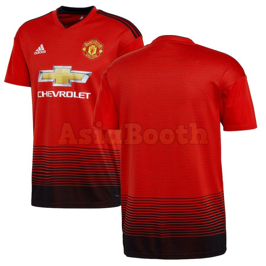 2018 2019 Manchester United Home Jersey Shirt For Men Plain No Name Asia Booth
