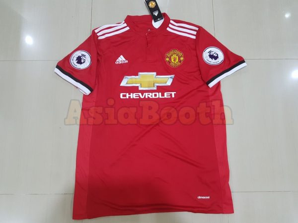 2017-2018 Manchester United Home Jersey Shirt Climacool For Men