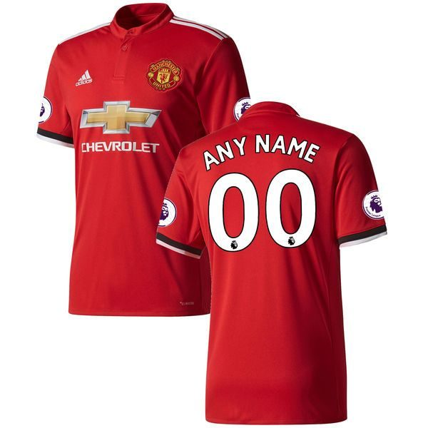 timeless design 64a1d 0d20a 2017-2018 Manchester United Home Jersey Climacool For Men (Personalized  Name & Number)