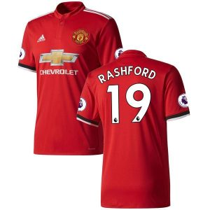 2017-2018 Manchester United Home Jersey Shirt Climacool For Men (Marcus Rashford)