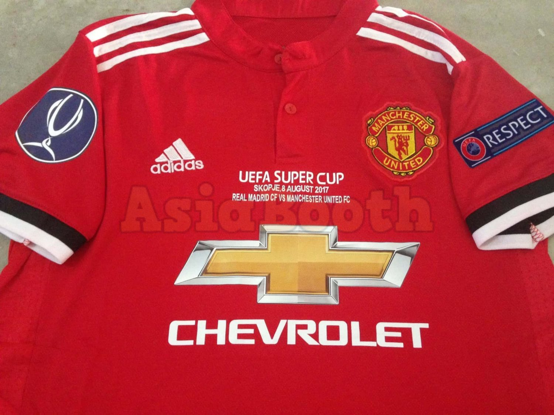 5af756378 2017-2018 Super Cup Manchester United Home Jersey Shirt Climacool ...