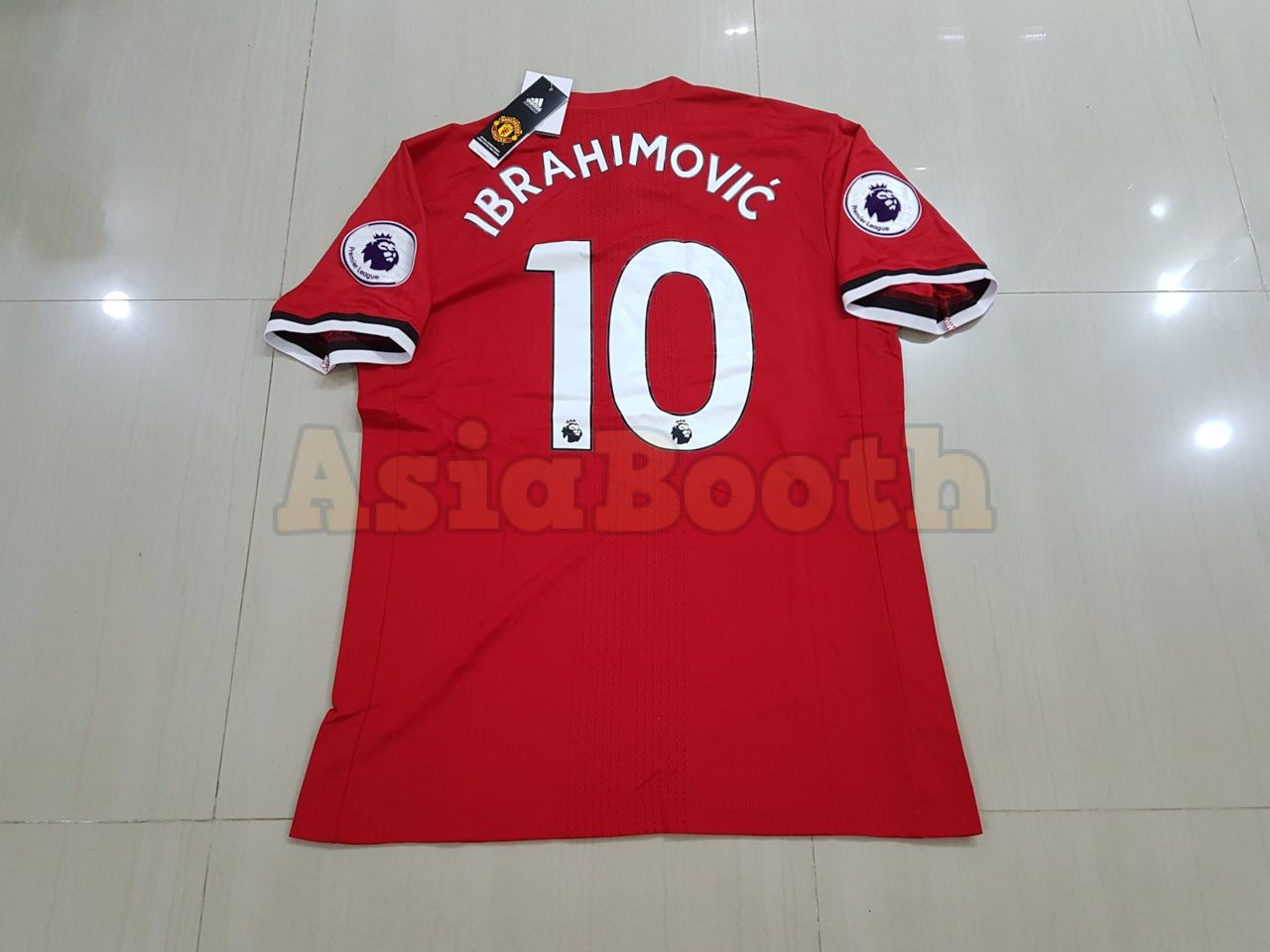 pretty nice 929c3 b61fe 2017-2018 Manchester United Home Jersey Shirt Climacool For Men  (Ibrahimovic #10)