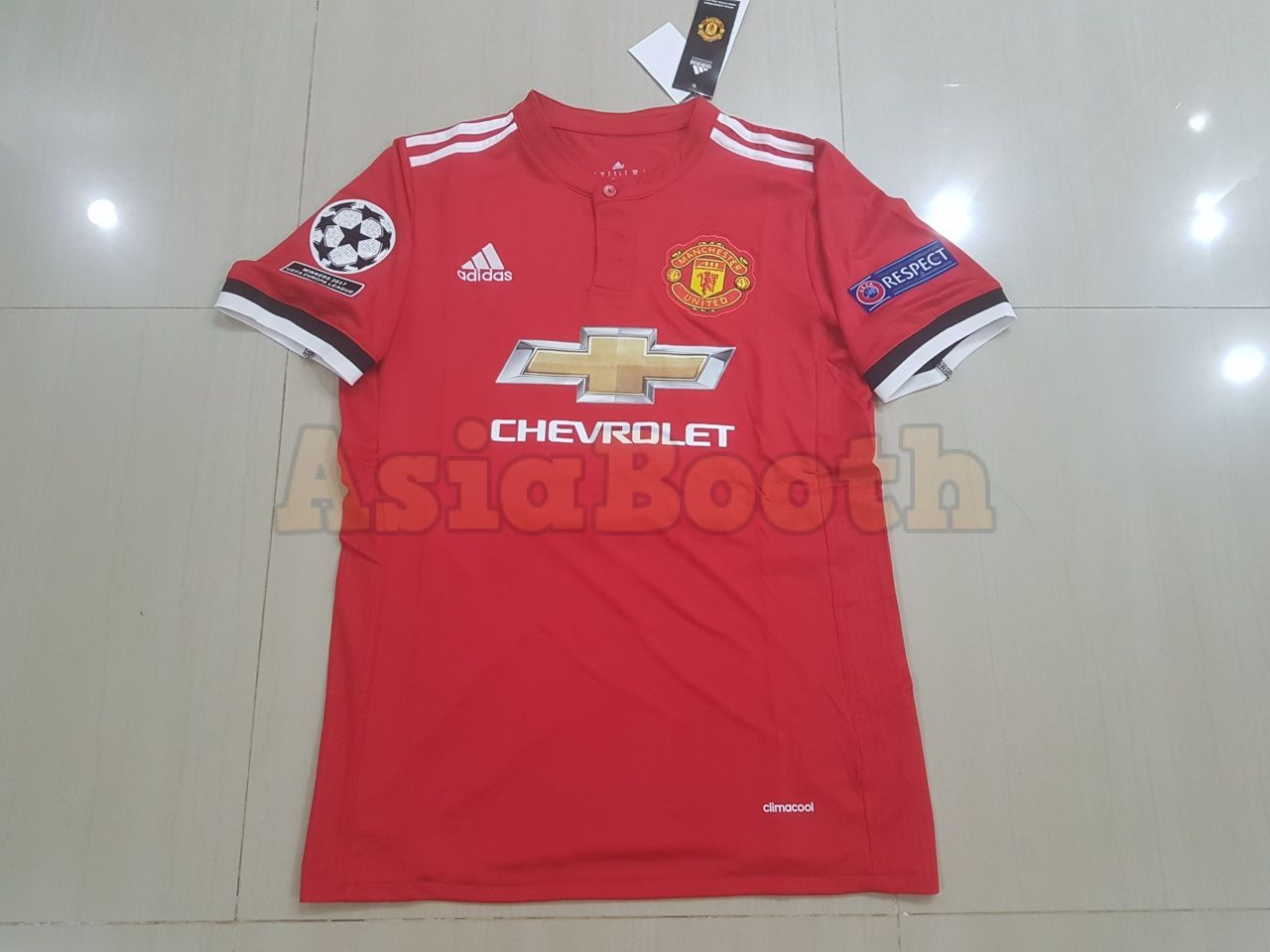 2017-2018 UEFA Champions League Manchester United Jersey For Men ... 751a76223