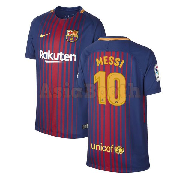 2017-2018 FC Barcelona Home Jersey Shirt Dri-FIT For Men (Lionel ... 62f624b42