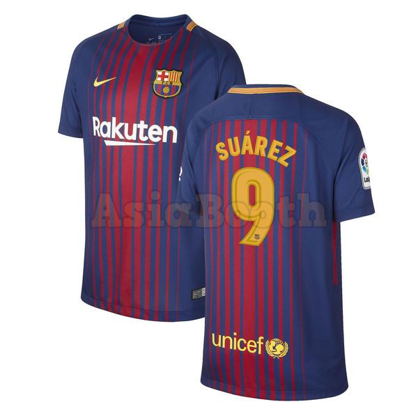 the latest f72c9 154bf 2017-2018 FC Barcelona Home Jersey Shirt Dri-FIT For Men (Luis Suarez)