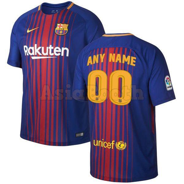 2017-2018 Barcelona Home Jersey Custom Name