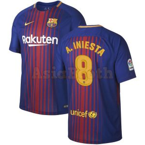 2017-2018 Barcelona Home Jersey (Andres Iniesta)