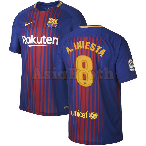 purchase cheap 4f5e1 401e4 2017-2018 FC Barcelona Home Jersey Shirt Dri-FIT For Men (Andres Iniesta)