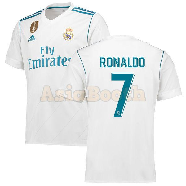 save off 0bd01 c8a93 2017-2018 Real Madrid CF Home Jersey Climacool Shirt For Men (Cristiano  Ronaldo)