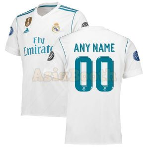 2017-2018 Real Madrid Home Jersey (Custom Name)