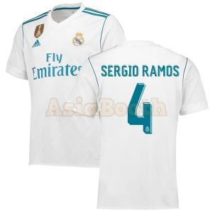 2017-2018 Real Madrid Home Jersey (Sergio Ramos)