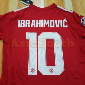 2017-2018 Champions League Ibrahimovic Manchester United Jersey