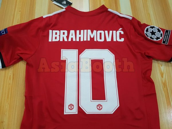 cheaper 6ec80 1d428 2017-2018 Champions League Manchester United Home Jersey For Men  (Ibrahimovic #10)