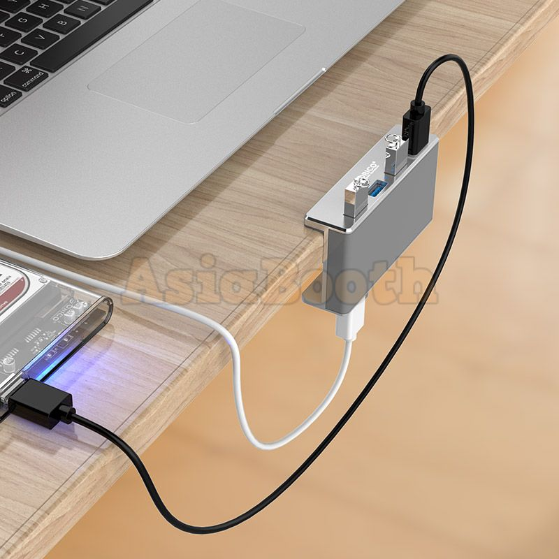 Orico 4 Ports Usb 3 0 Hub With Clip On Type For Desk Mount