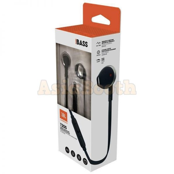 JBL T205 by Harman In Ear Stereo Headphones Powerful Pure Bass Sound