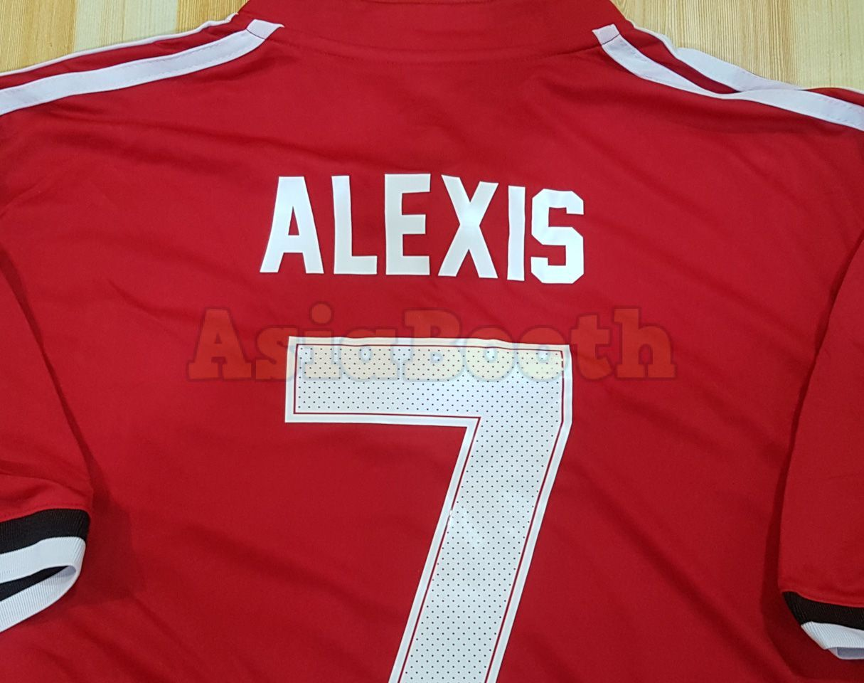 size 40 0669a 0cbcc 2017-2018 Champions League Manchester United Home Jersey For Men (Alexis  Sanchez #7)