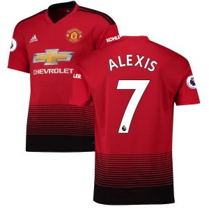 2018-2019 Manchester United Home Jersey Shirt Climacool For Men (Romelu Lukaku)