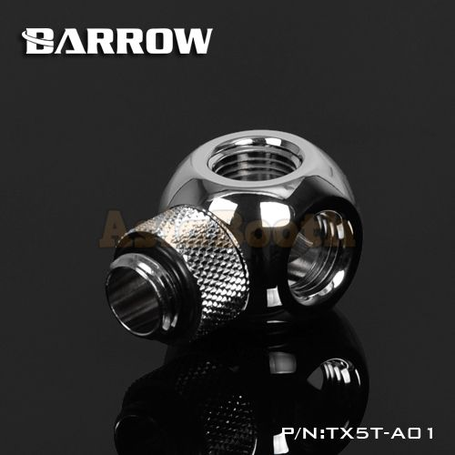 Barrow G1/4 Fitting 360° Rotary - Cube Tee 4 Way Connectors TX5T-A01