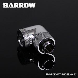 Barrow G1/4 360° Rotary 90° Angle Male to Female - TWT90S-V2 Chrome