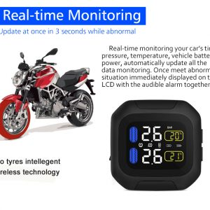 CAREUD M3 Universal TPMS Tire Pressure Monitor For Motorcycle Bike