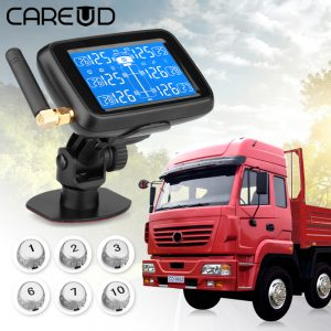 CAREUD U901 Universal TPMS Tire Pressure Monitor For Truck / RV 6 Sensor