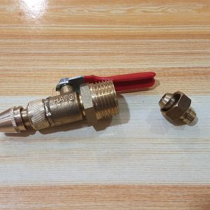 "Multipurpose Adjustable Brass Jet Spray Nozzle (1/4"" to 1/2"")"