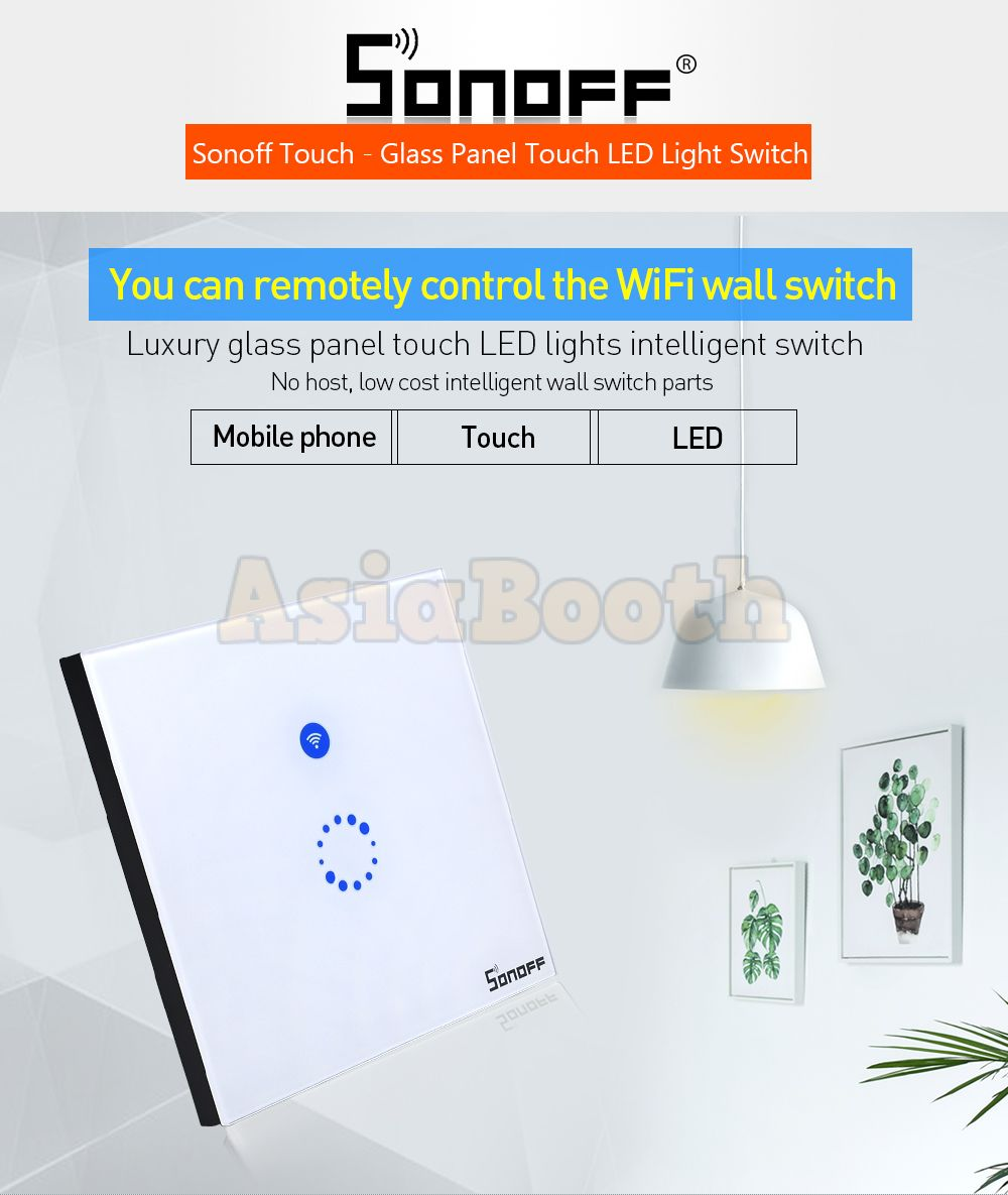 Sonoff Smart Home Wireless Wall Switch Touch Panel