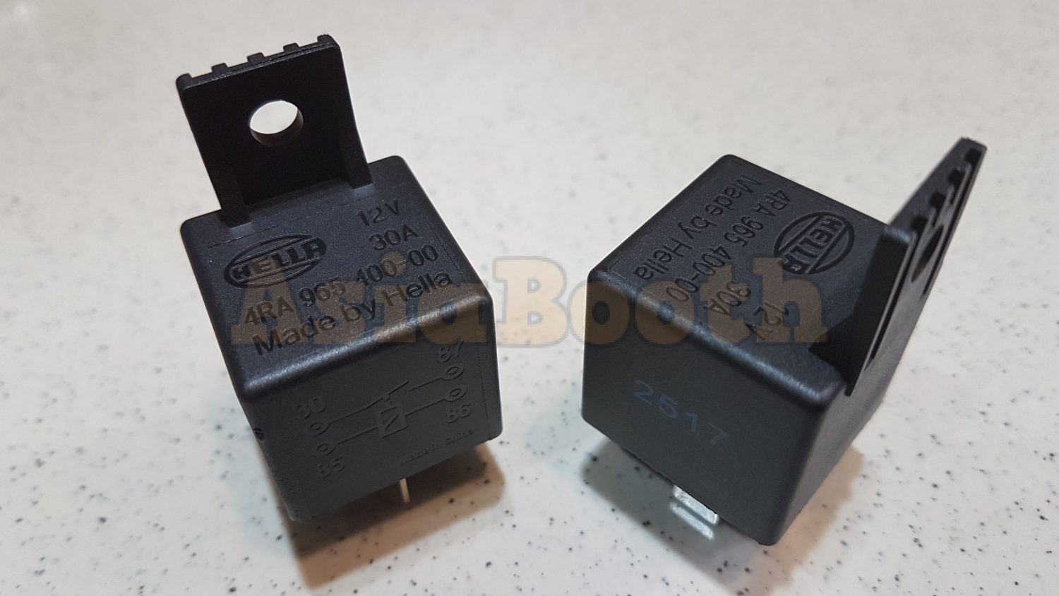 Hella Relay 4 Pin 12v 30a 2 Pieces Asia Booth 5 Universal 12 Volt