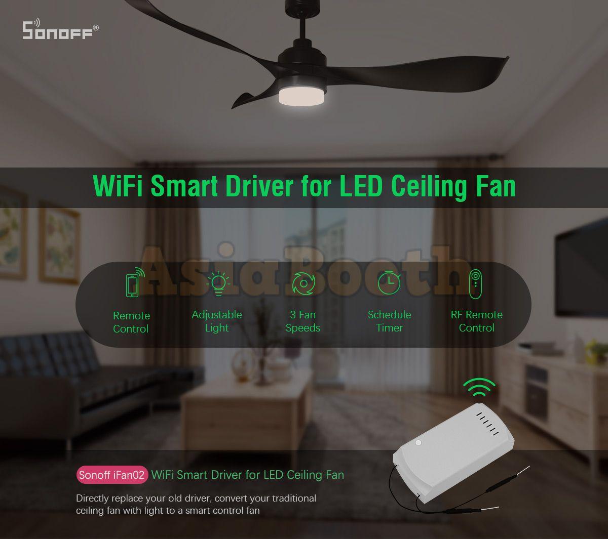 Sonoff ifan02 wireless rf ceiling fan smart home system asia booth sonoff ifan02 wireless rf ceiling fan smart home system aloadofball Gallery