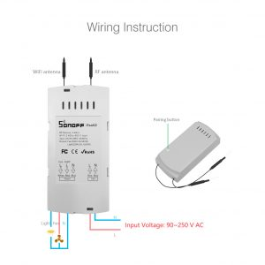 Sonoff iFan02 Wireless RF Ceiling Fan Smart Home System