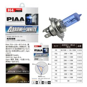 PIAA Halogen Arrow Star White 4250K 55 Watt