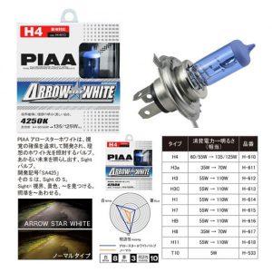 PIAA Halogen Arrow Star White 4250K 55 Watt