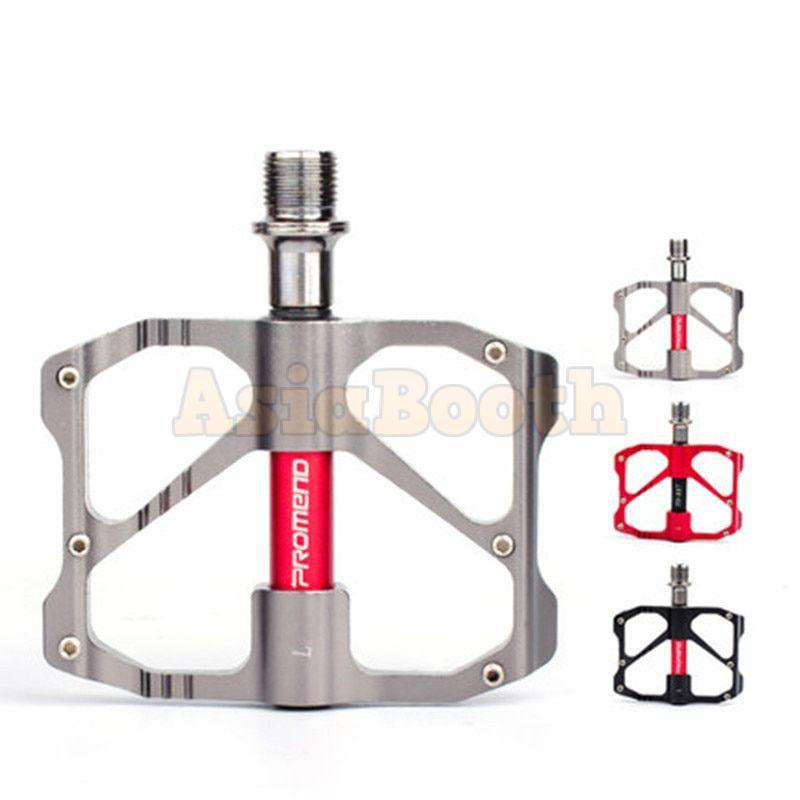 PROMEND Aluminum Road Bike MTB Flat Pedals Ultralight CR-MO 3 Sealed Bearings