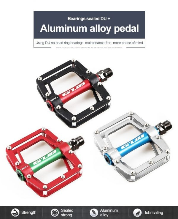 Bicycle Aluminum Pedal Antiskid Sealed Bearing 18 Skids