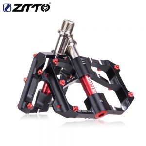 Bicycle CNC Aluminum Pedals Antiskid 6 Sealed Bearing ZTTO (Black)