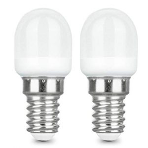 E12 LED Light Bulb Day Light 2 Watt 6000K (2 Pieces)