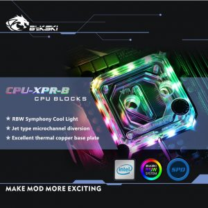 Bykski Symphony CPU Waterblock for Intel & AMD - CPU-XPR-B