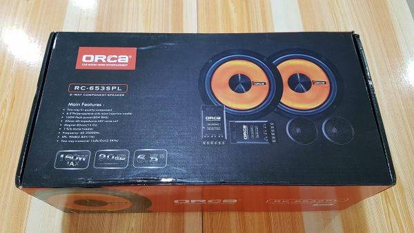 "ORCA RC-653SPL 6.5"" 2-Way Car Component Speaker 90dB 160 Watt"